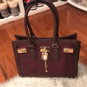 NWOT Burgundy Aldo bag